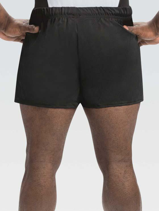 GK 1817M Nylon/Spandex Shorts - Black